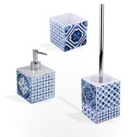 Set di accessori per bagno Mosaic bianco in ceramica , 3 pezzi