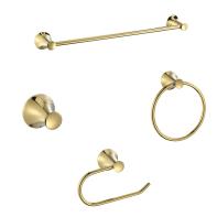 Set accessori di fissaggio giallo / dorato cromato in inox