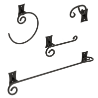Set accessori di fissaggio nero verniciato in acciaio
