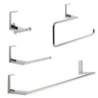 Set accessori di fissaggio grigio / argento cromato in inox