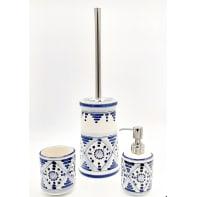 Set di accessori per bagno Tribu blu indaco in ceramica , 3 pezzi