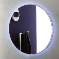 Specchio con illuminazione integrata bagno rettangolare Linea L 68 x H 68 cm