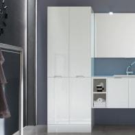 Mobile lavanderia bianco L 70 x P 62 x H 200 cm