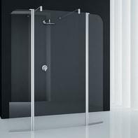Doccia walk in Twist L 152, H 195 cm, vetro 6 mm trasparente argento