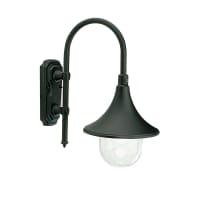 Applique Lampara in alluminio, nero, E27 MAX60W IP43