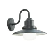 Applique Fisher in alluminio, grigio, E27 MAX60W IP44
