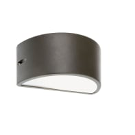 Applique Umbe Chiusa in alluminio, grigio, E27 MAX60W IP54