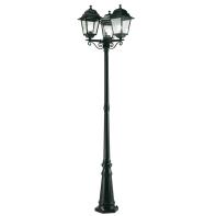 Palo della luce Quadrata H218cm in alluminio, nero, E27 3xMAX100WW IP43