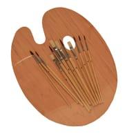 Tavolozza con set pennelli