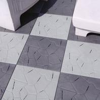 Piastrelle ad incastro ONEK Snaptile in pvc 38 x 38 cm Sp 25 mm,  grigio antracite