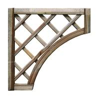 Pannello reticolato in legno angolo Diago 59 x 59 cm