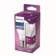 Lampadina LED, E27, Goccia, Opaco, Luce fredda, 8.5W=1055LM (equiv 75 W), 360° , PHILIPS