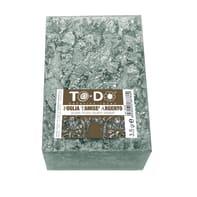 Carta da decoupage Foglia Tamisè in metallo argento