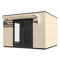 Casetta da giardino in legno Studio Como 11,  superficie interna 11.16 m² e spessore parete 90 mm