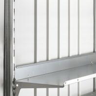 Grondaia in acciaio galvanizzato L 5 H x 0.05 P x 173 cm