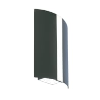 Applique Shelby LED integrato in alluminio, grigio, 9W 325LM IP65