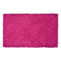 Tappeto bagno rettangolare Bouclettes in 100% cotone pink 80 x 50 cm