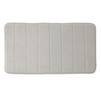 Tappeto bagno rettangolare Cocoon in poliestere beige 80.0 x 50.0 cm