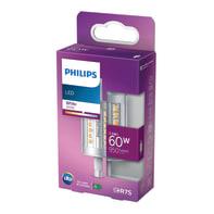 Lampadina LED, R7S, 78 mm, Lineare, Trasparente, Luce calda, 7.5W=950LM (equiv 60 W), 360° , PHILIPS