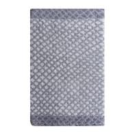 Tappeto bagno rettangolare Lucia in 100% cotone grigio 80 x 50 cm