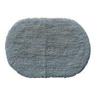 Tappeto bagno ovale Oval new in cotone beige 60.0 x 40.0 cm