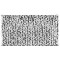 Tappeto bagno rettangolare Speed in cotone grigio 100 x 55 cm