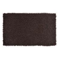 Tappeto bagno rettangolare Velvet in 100% cotone cioccolato 80.0 x 50.0 cm