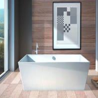 Vasca centro stanza Carmel Bianco 160 x 65 cm