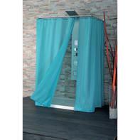 Tenda doccia Basic in poliestere azzurro L 180 x H 200 cm