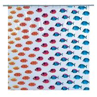 Tenda doccia Pesci in peva multicolor L 180 x H 200 cm