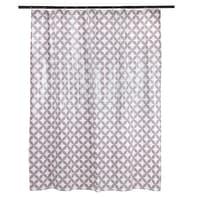 Tenda doccia Corolle in vinile lilla L 120 x H 200 cm