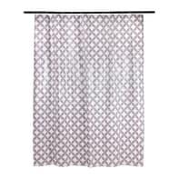 Tenda doccia Corolle in vinile lilla L 180 x H 200 cm