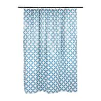 Tenda doccia Corolle in vinile blu L 180 x H 200 cm