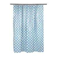 Tenda doccia Corolle in vinile blu L 240 x H 200 cm