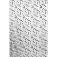 Tenda doccia Mosaico in vinile grigio L 180 x H 200 cm