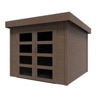 Casetta da giardino in legno Viola impregnata Plus,  superficie interna 5.96 m² e spessore parete 28 mm