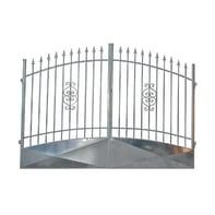 Cancello Etna in ferro zincato L 350 x H 180 - 210 cm