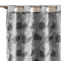 Tenda Janis grigio fettuccia con passanti nascosti 140 x 300 cm