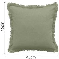 Cuscino INSPIRE Lucile verde 45x45 cm