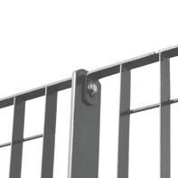 Recinzione grigliato orsogrill in acciaio L 200 x H 146 x P 2.5 cm