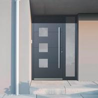 Portoncino d'ingresso QP40 grigio L 130 x H 210 cm sinistra