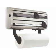 Porta rotolo carta assorbente tasselli in acciaio