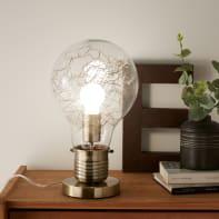 Lampada da comodino Moderno Bombilla Cromato opaco in vetro, INSPIRE