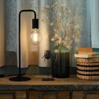 Lampada da tavolo Design Lana nero, in metallo, INSPIRE