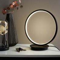 Lampada da tavolo Moderno Iring Nero in metallo, INSPIRE
