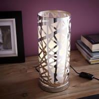 Lampada da tavolo Moderno Liverpool grigio, in acciaio inox, INSPIRE