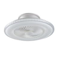Ventilatore da soffitto LED integrato Borea, bianco, D. 60 cm