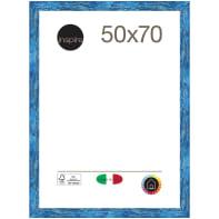 Cornice Gaia 35 blu<multisep/>azzurro per foto da 50x70 cm
