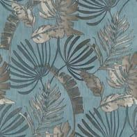 Carta da parati Sejours&Chambres Vintaleaf blu, 53 cm x 10.05 m