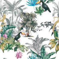 Carta da parati Sejours&Chambres Tortuga verde, 53 cm x 10.05 m